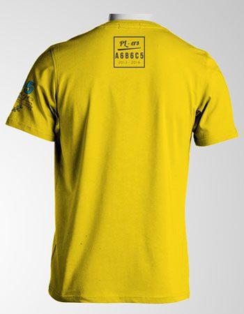 Mẫu áo thun màu vàng dành riêng cho các bạn lớp C5 trường THPT Phú Long