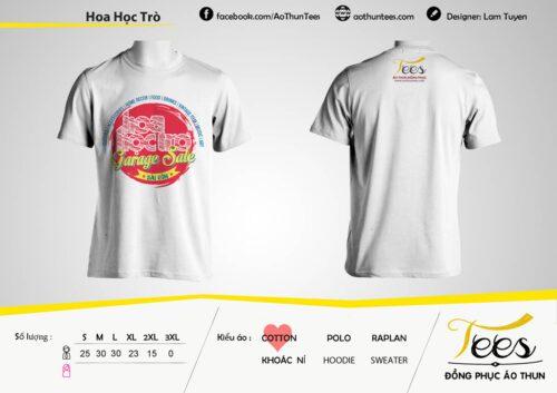 Mẫu áo thun thương hiệu Tees mang đến cho làm quà tặng cho báo Hoa Học Trò - Tp. Hồ Chí Minh