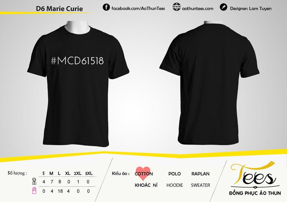 Áo thun cực kỳ đơn giản của các bạn lớp 10D6 trường THPT Marie Curie