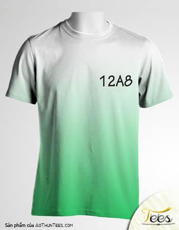 Mẫu áo thun ombre của các bạn lớp 12A8 trường THPT Bình Phú