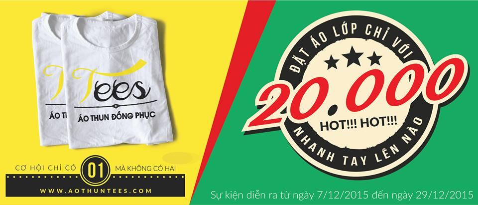 Event áo lớp 20k cho tháng 12 – 2015