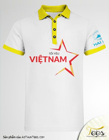Mẫu áo thun Tôi Yêu Việt Nam - Công ty Hải Minh