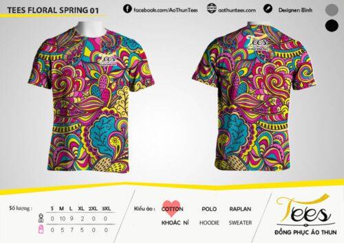 Floral T-shirt 01