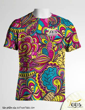 Floral T-shirt 01a