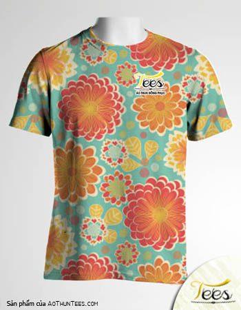Mẫu áo thun đồng phục họa tiết Floral Spring 17