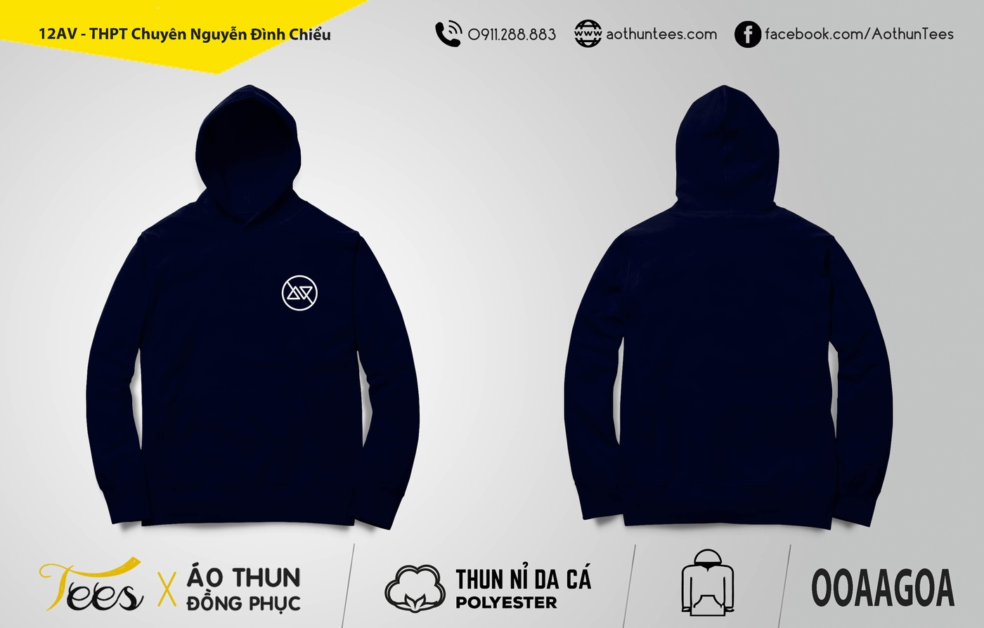 12AV THPT Chuyen Nguyen Dinh Chieu My Hang - Áo hoodie đồng phục lớp 12AV - THPT Chuyên Nguyễn Đình Chiểu