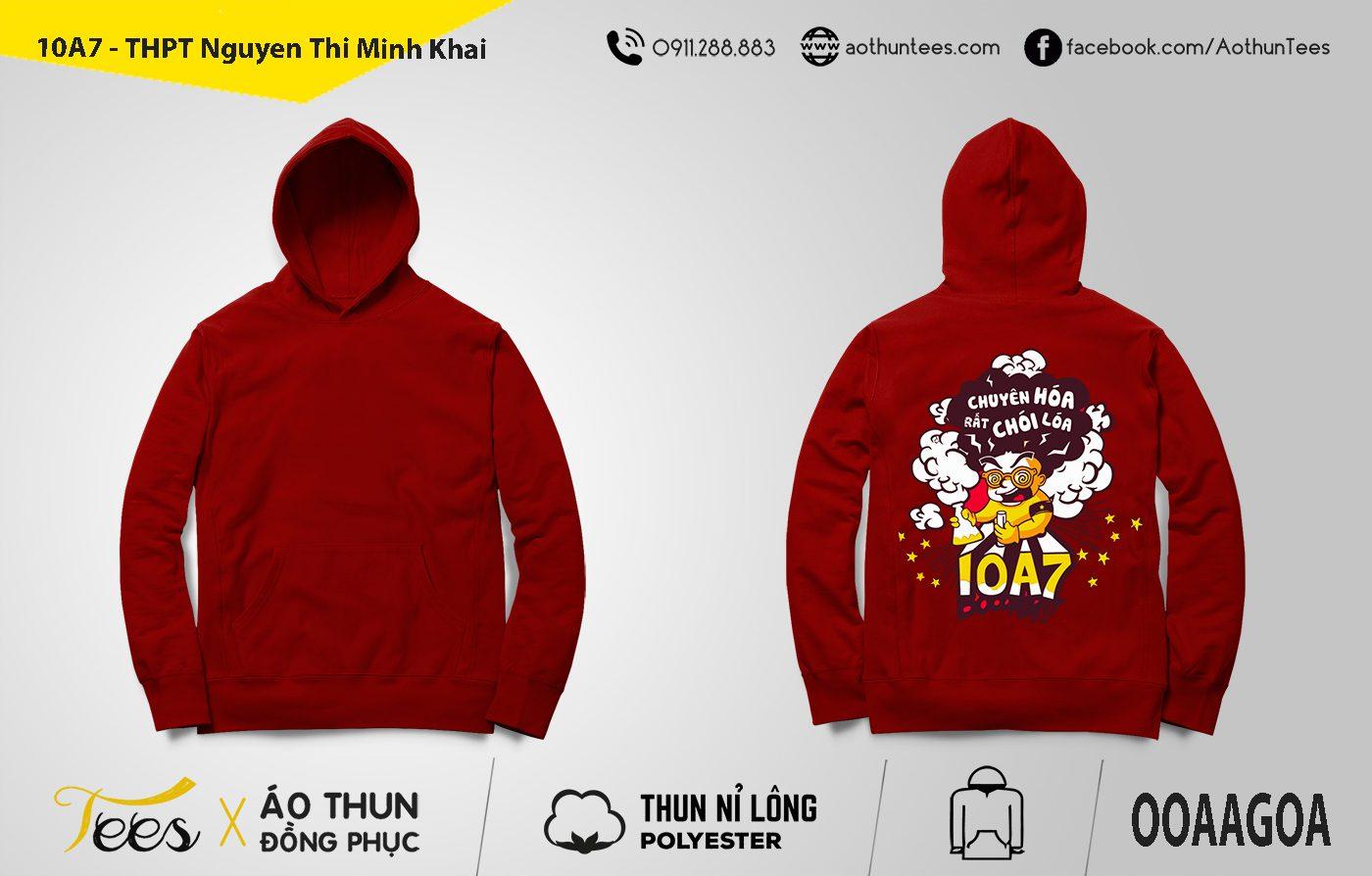 Áo hoodie đồng phục lớp 10A7 – THPT Nguyễn Thị Minh Khai
