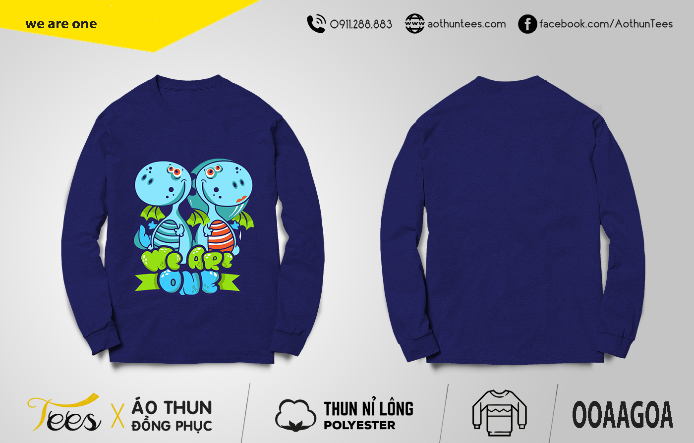 we are one1 - Áo sweater nhóm We are one