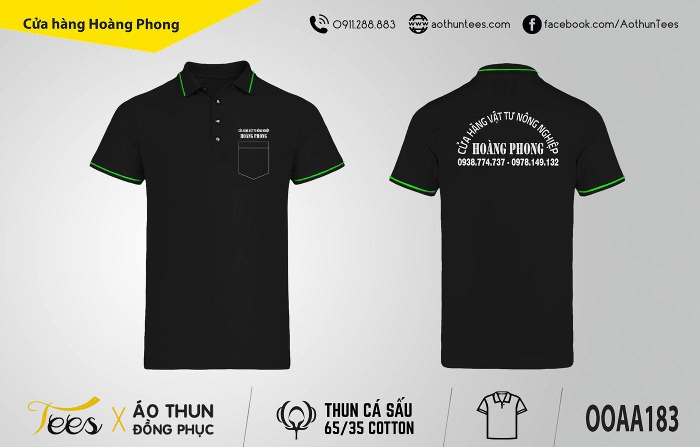 152. Cua hang vat tu nong nghiep Hoang Phong - Áo thun đồng phục Cửa hàng Hoàng Phong