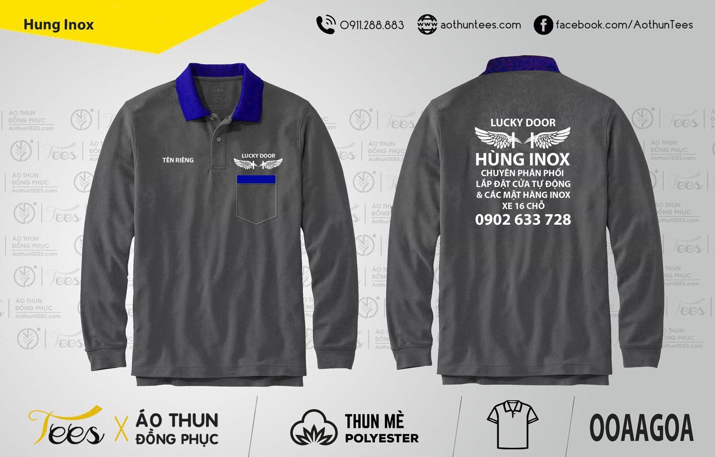 197. Hung Inox - Áo thun đồng phục Cửa hàng Hùng Inox