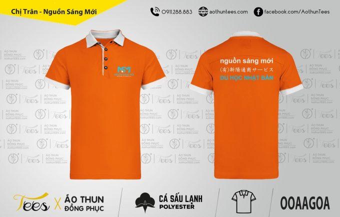 051. Nguon sang moi NSM Bao Tran 680x434 - Áo thun đồng phục Công ty Nguồn sáng mới - Du học Nhật Bản